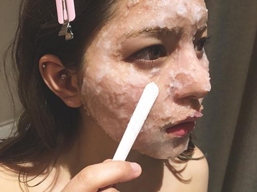 炭酸濃度の高いアクティベートマスク