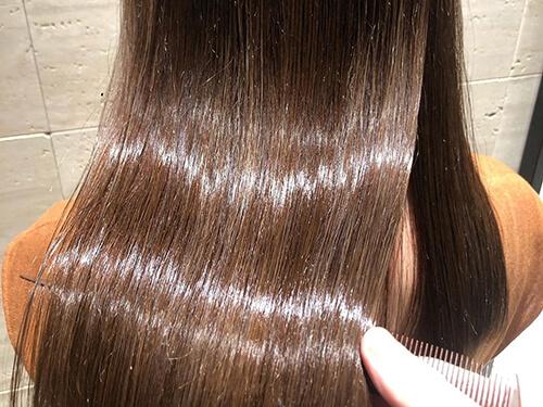 髪質改善トリートメントで艶髪