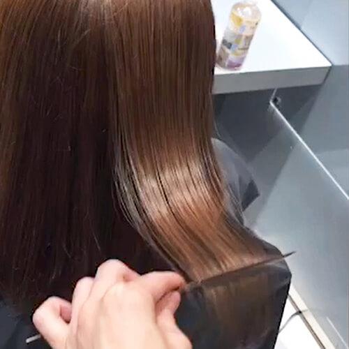 酸熱トリートメントで艶美髪完成
