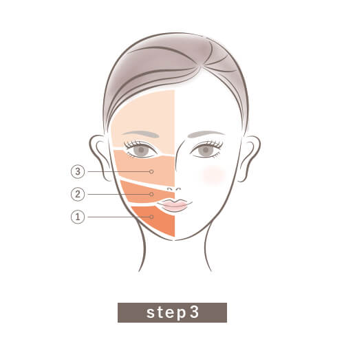 V3ファンデーションの使い方step3