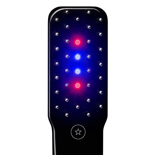 電気バリブラシの2種類のLEDランプ(赤色・青色)