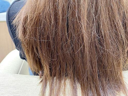 ダメージを受けて傷んだ髪